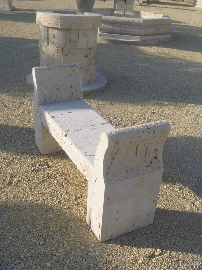 Banco dos apoyos con apoya brazos lateral de longitud 1 metro
