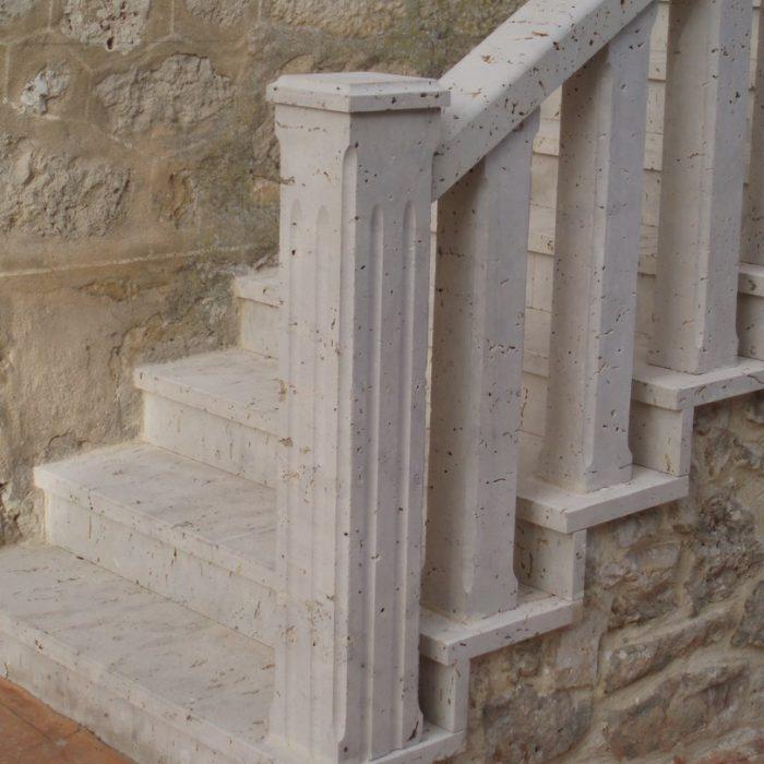 Balaustradas secci n cuadrada m rmoles granitos y - Balaustradas de piedra ...